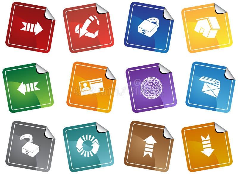 set etikett för webbläsaresäkerhet stock illustrationer