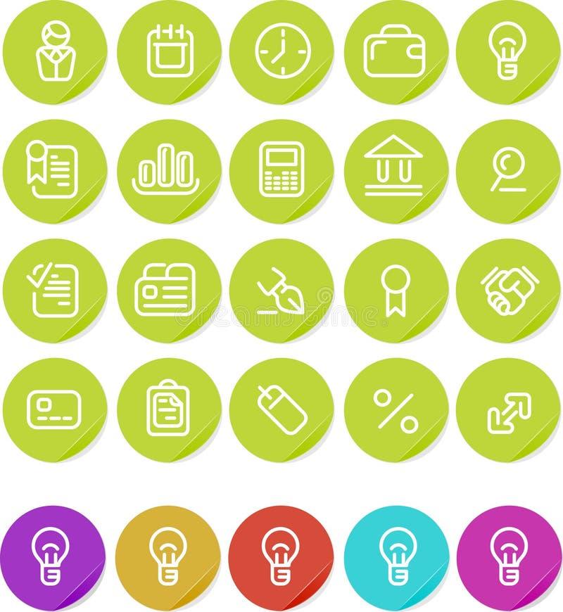 set etiketter för affärssymbolsplain stock illustrationer