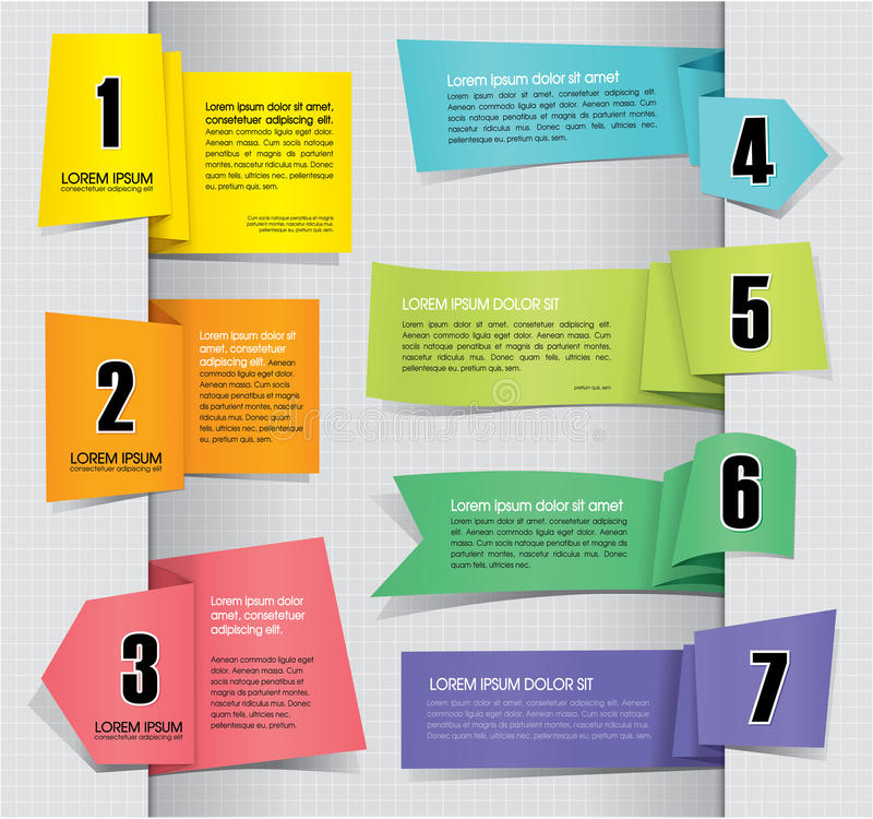 Set Etykietek Papierowe Etykietki royalty ilustracja