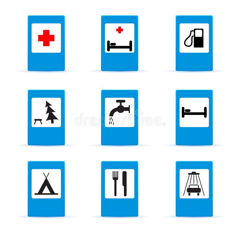 Download Set Europejscy Ewidencyjni Drogowi Znaki Ilustracji - Ilustracja złożonej z hotel, telefon: 28955007