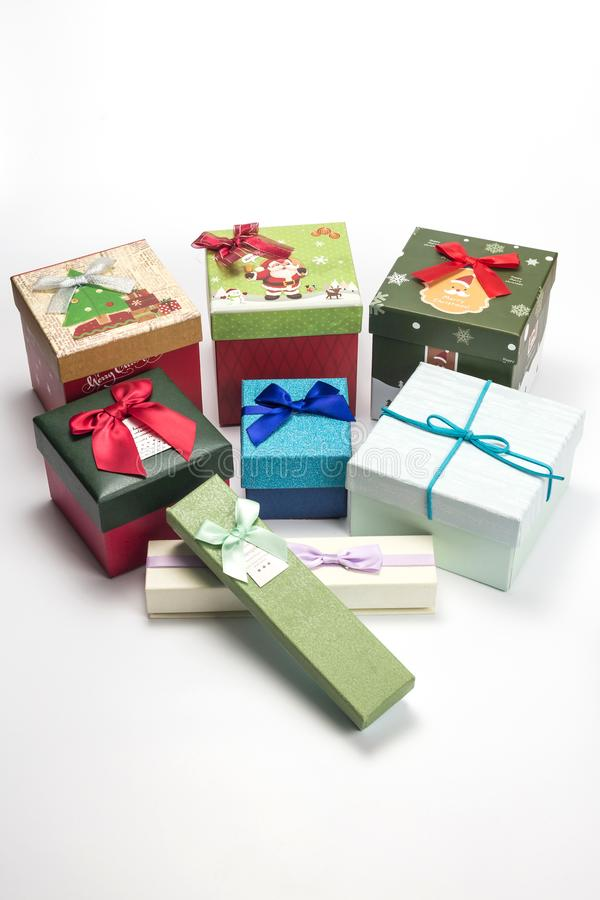 Beautiful gift box stock images