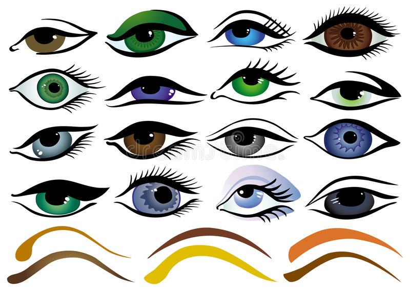 Download Set of eyes stock vector. Illustration of elements, green - 2527206