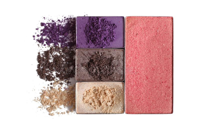 Set of eyeshadow royalty free stock images