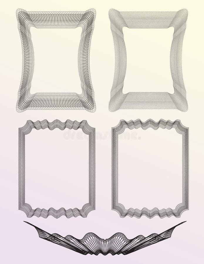 set för 02 guilloche royaltyfri illustrationer