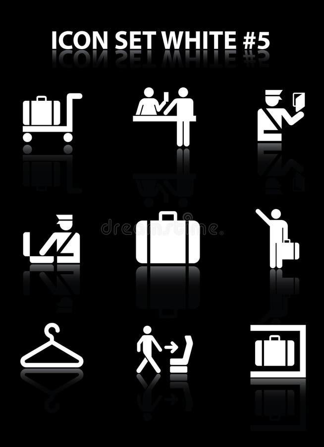 set för 5 symbol royaltyfri illustrationer