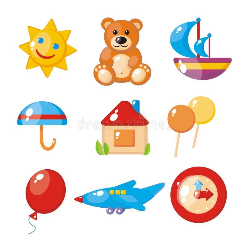 set för barnbilder s vektor illustrationer