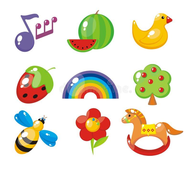 set för barnbilder s royaltyfri illustrationer