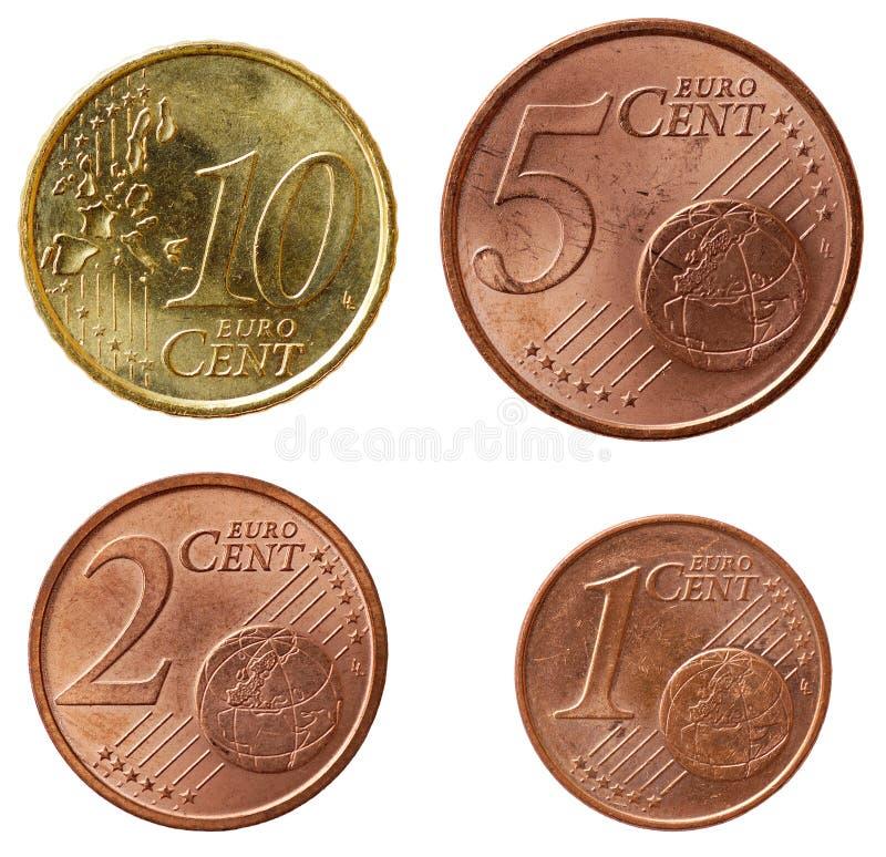 set för del för euro för 2 mynt full royaltyfria foton