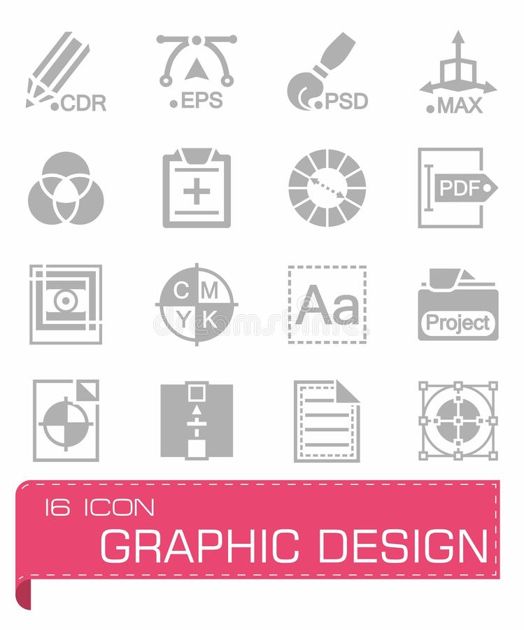 set för designdiagramsymbol stock illustrationer