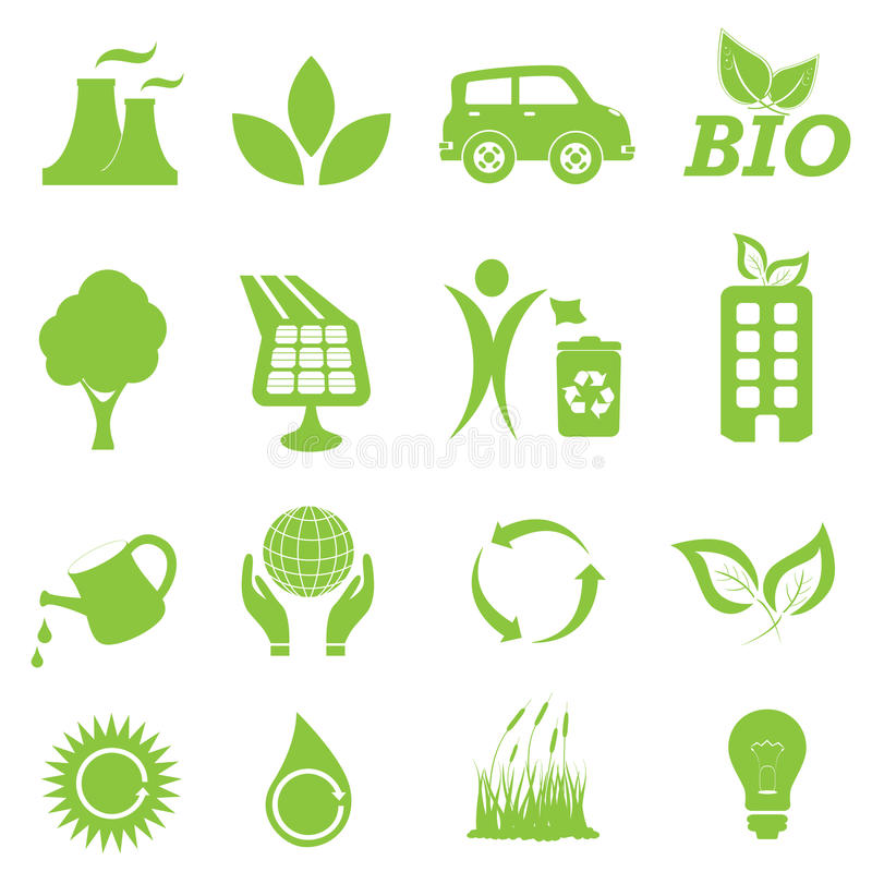 Download Set för ekologimiljösymbol vektor illustrationer. Illustration av jordklot - 19788366