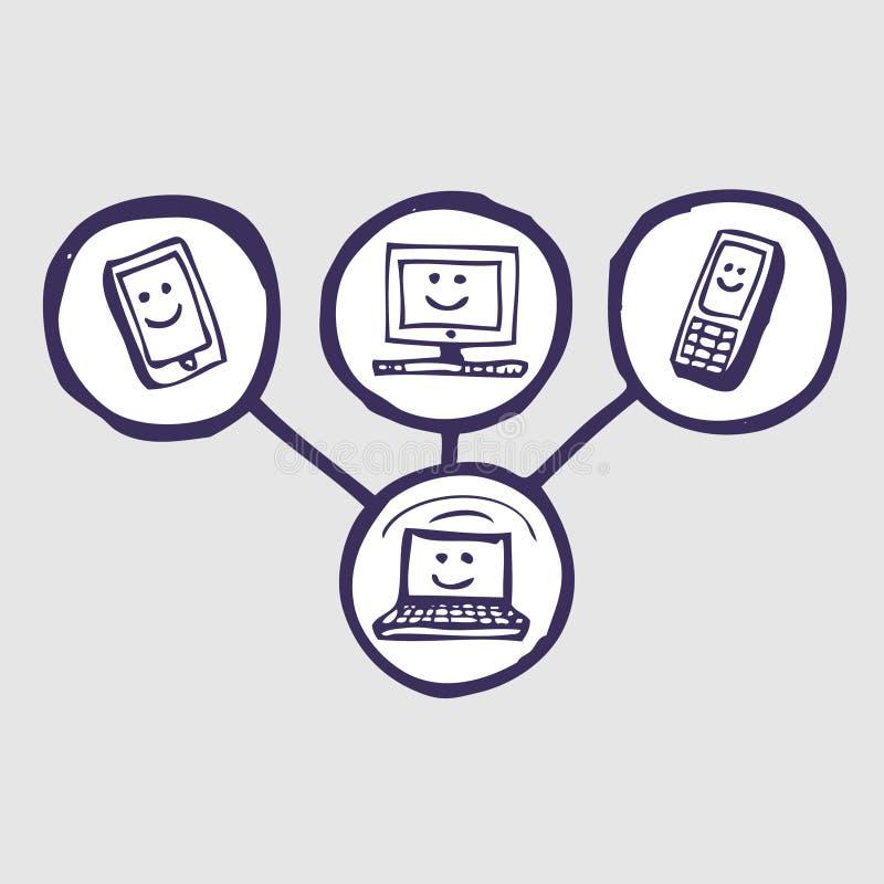 set för gemenskapsymbolsinternet royaltyfri illustrationer