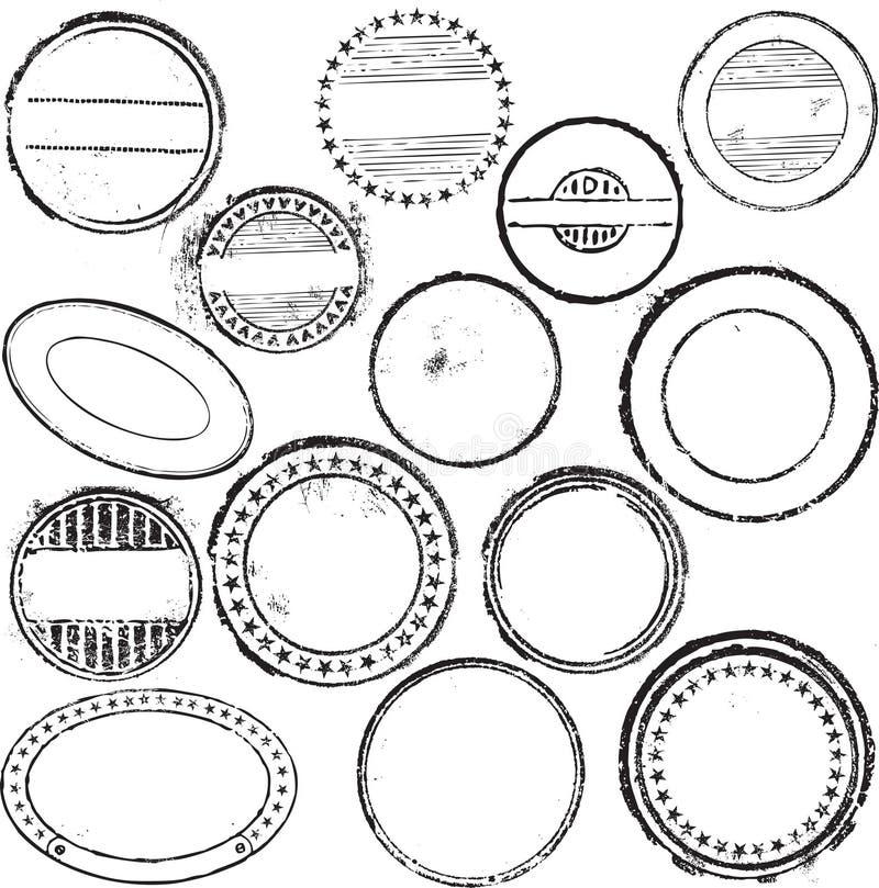 Set för Rubber stämpel royaltyfri illustrationer