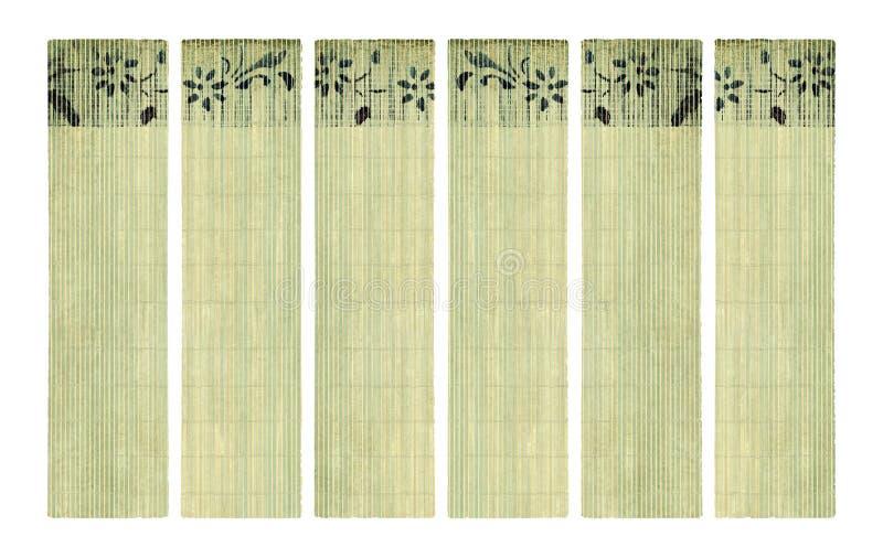 set för tryck för papper för färgpulver för bambubanerblomma arkivfoton