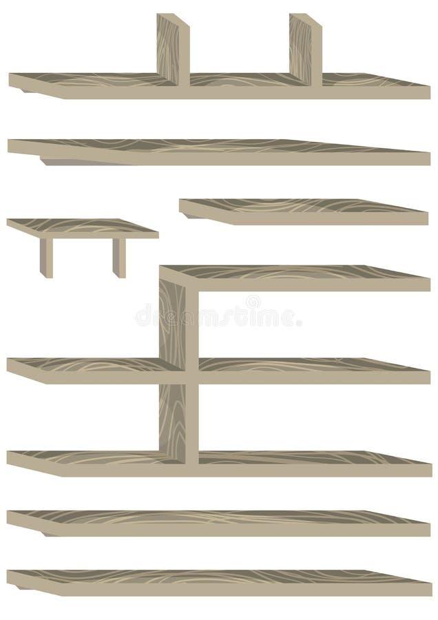 Set för väggskåp stock illustrationer