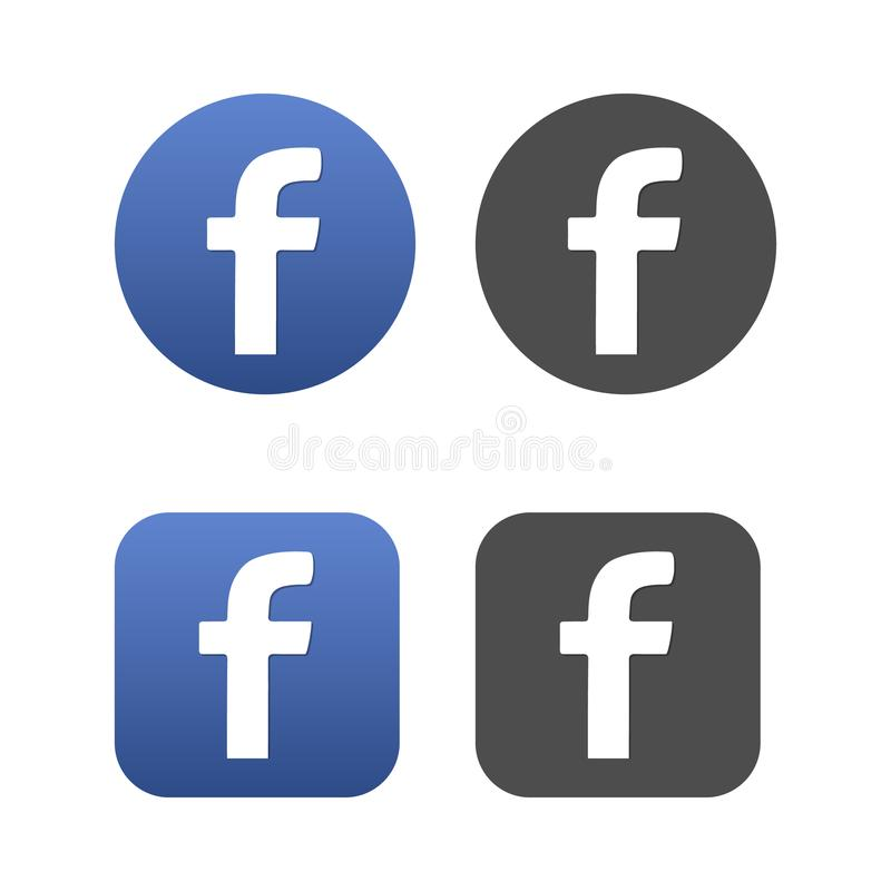 Set of F signs buttons stock illustration