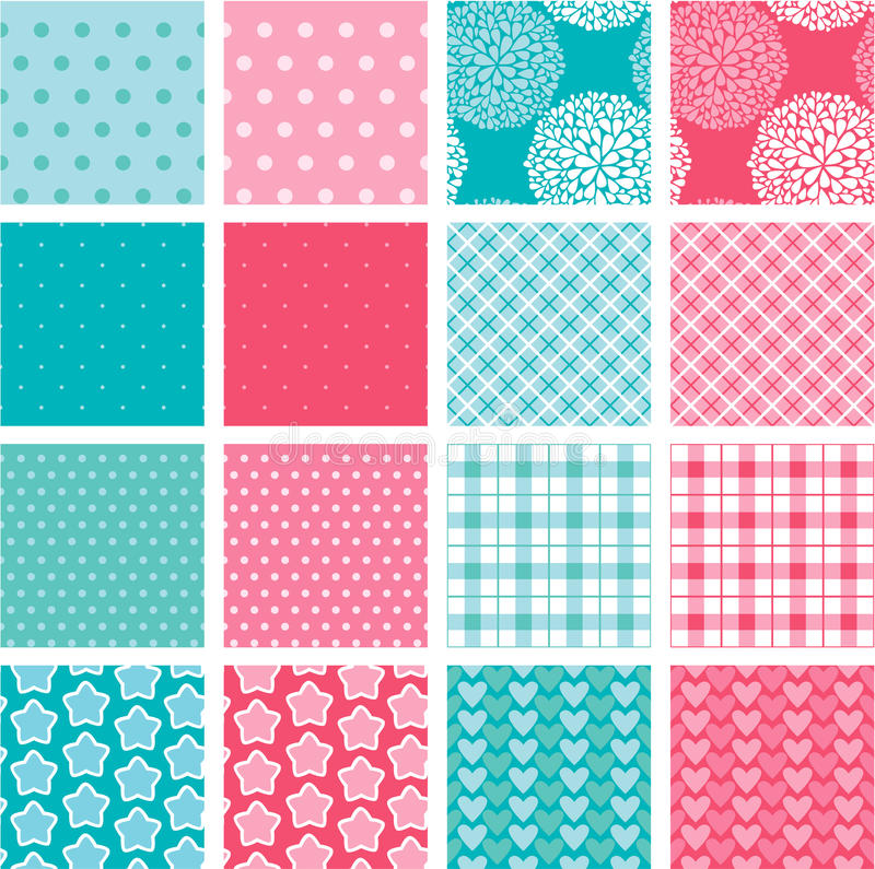 Set of fabric textures in pink and blue colors stock vector download set of fabric textures in pink and blue colors stock vector illustration of blueprint malvernweather Image collections