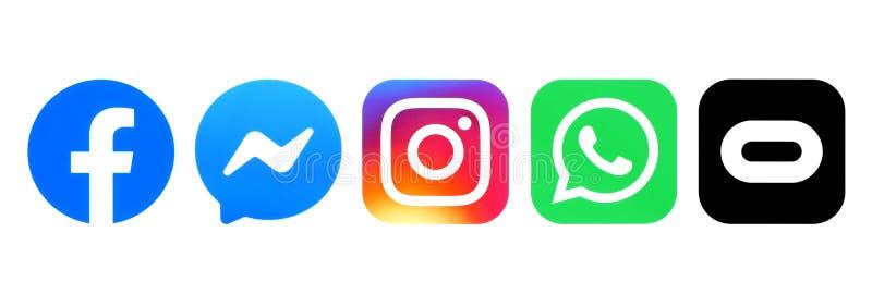 Set of Facebook family logos vector illustration