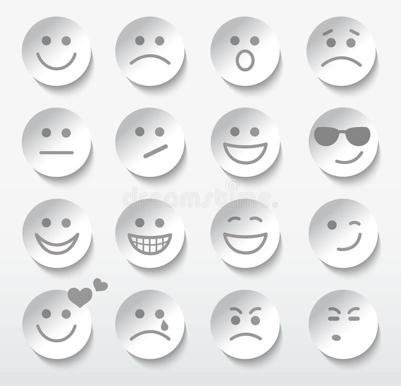Download Set Of Faces With Various Emotion Expressions. Stock Vector - Illustration: 33246417