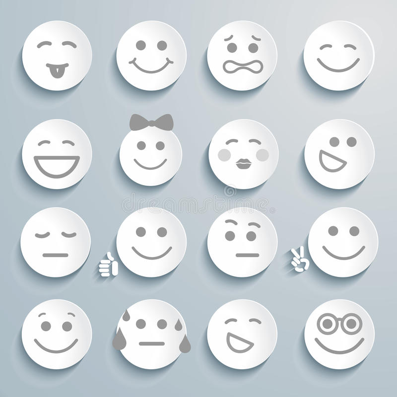 Download Set Of Faces With Various Emotion Expressions. Stock Vector - Image: 33246426