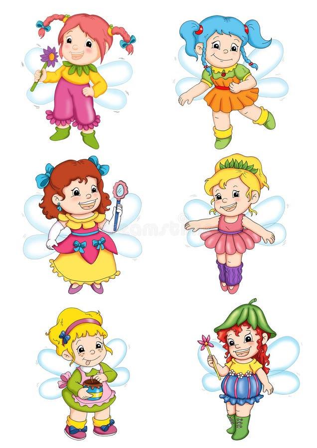 Set fairies 1 vector illustration