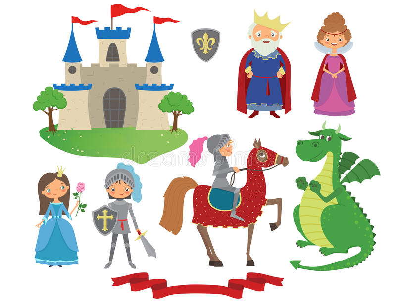 Set of fairy tale character royalty free stock images