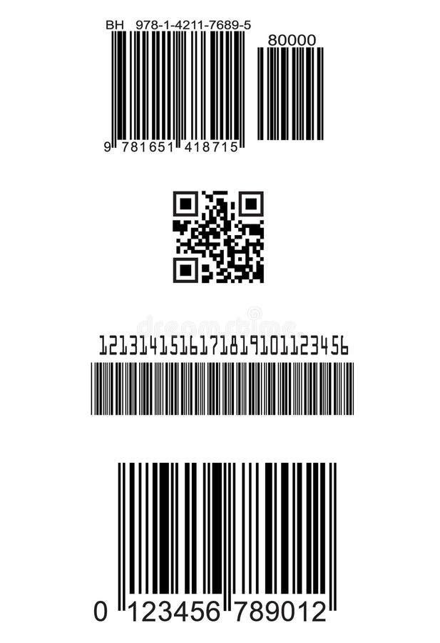 Set of fake barcodes