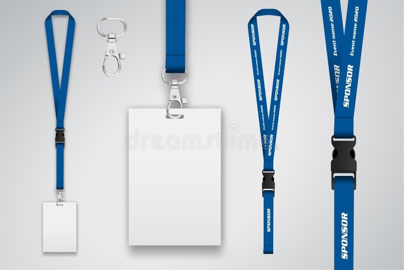 Set falrep i odznaka Metalu kawałek Szablon dla prezentaci ilustracja wektor