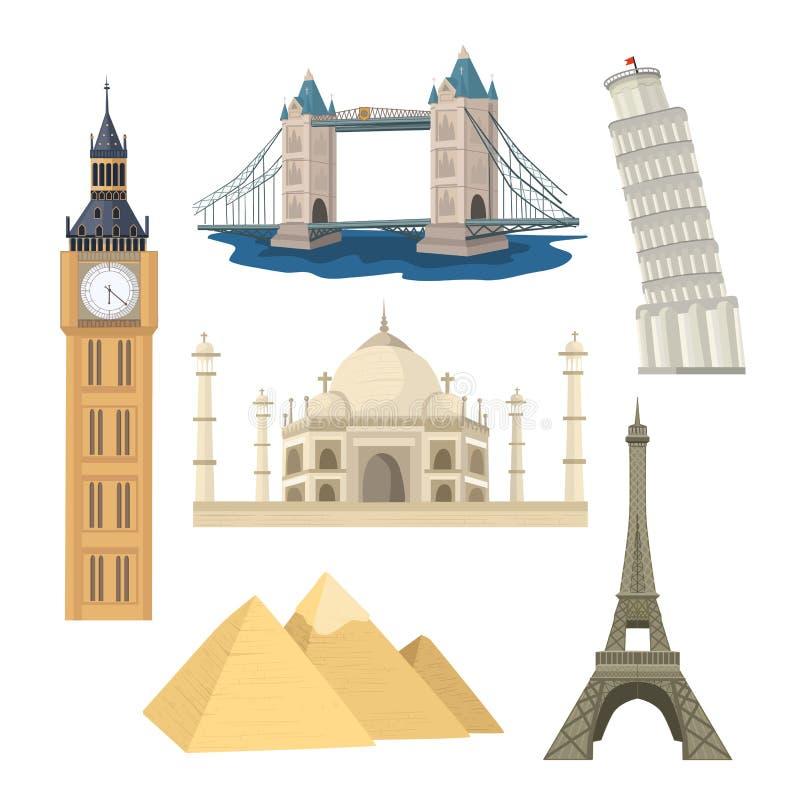 Landmarks vector set vector illustration