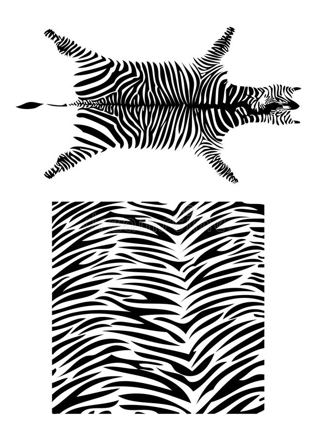 Set of fantastic zebra pattern royalty free illustration