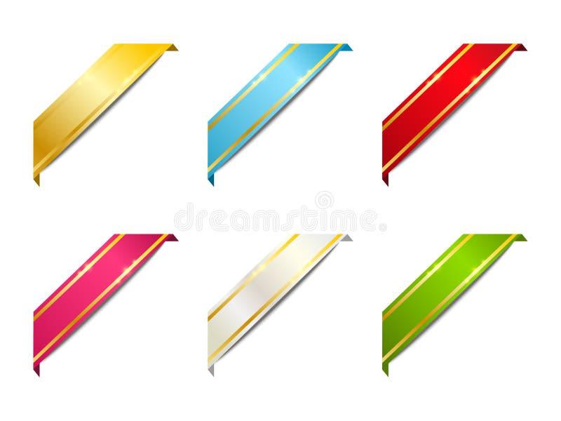 Set Farbbänder für Ihre Auslegung stock abbildung
