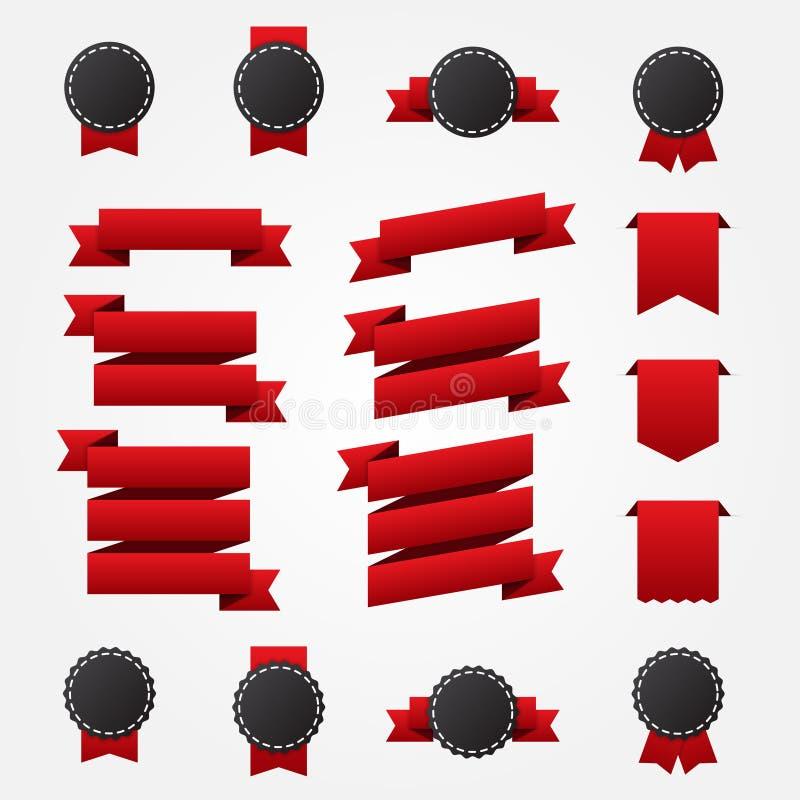 Set Farbbänder und Kennsätze lizenzfreie abbildung