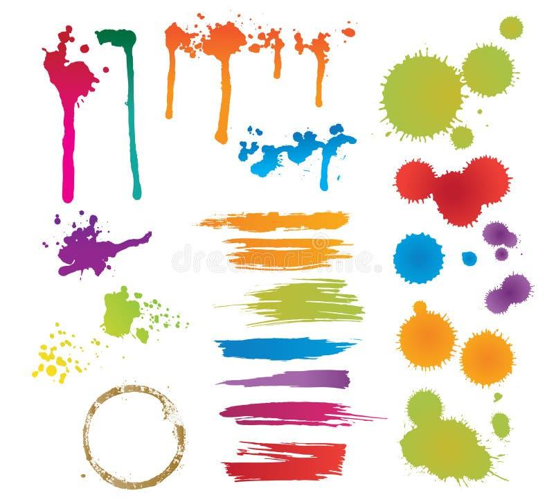 Set Farbenflecke stock abbildung
