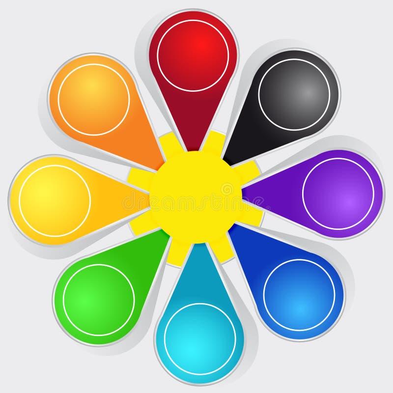Set Farbenkennsätze lizenzfreie abbildung