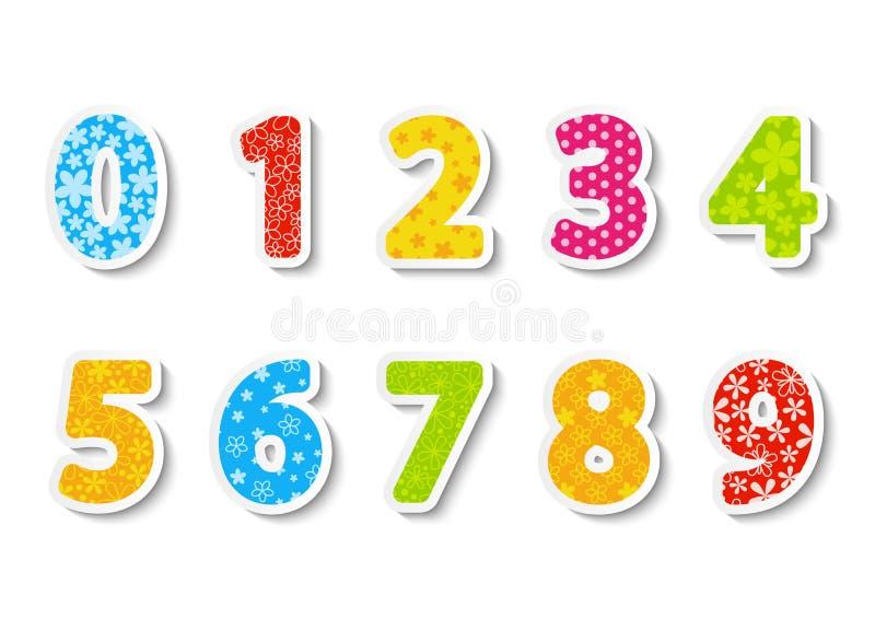 Set Farbenzahlen lizenzfreie abbildung