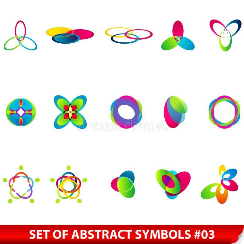 Set farbige abstrakte Symbole vektor abbildung