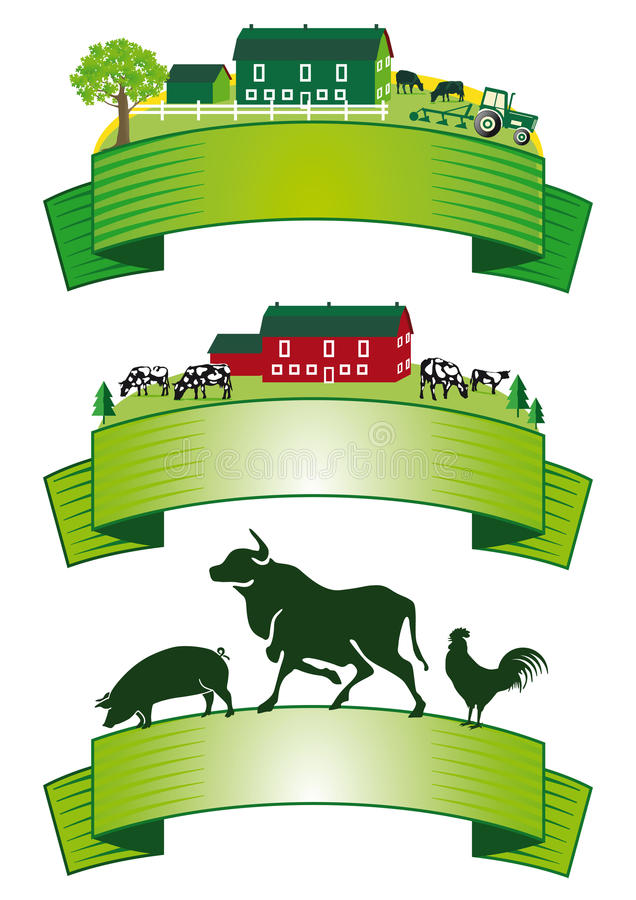 Download Set of farming banners stock vector. Image of illustrated - 32942965