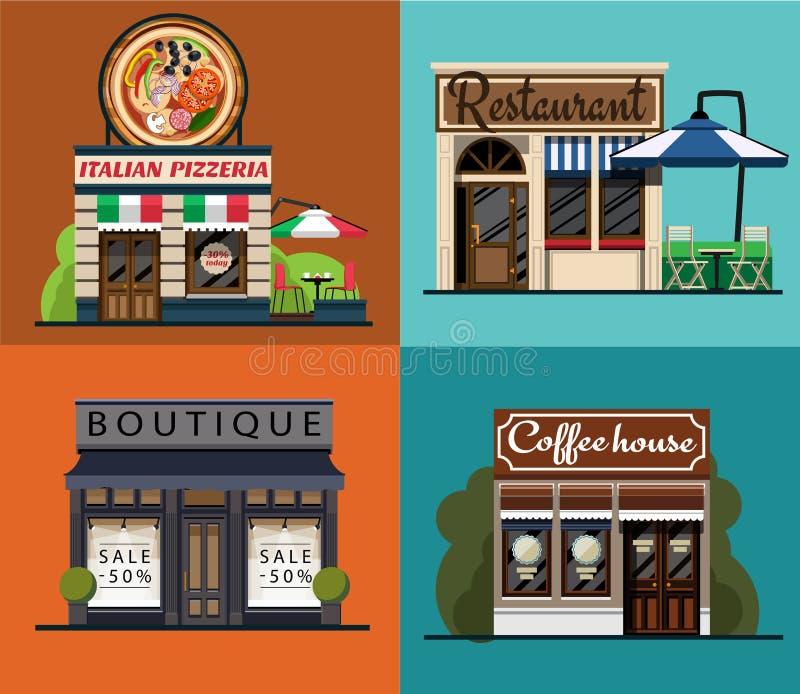 Set fasady ilustracji