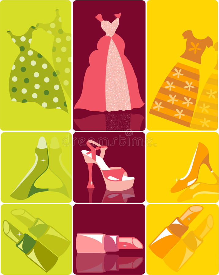 Download Set of fashion items stock vector. Illustration of illustration - 9475224