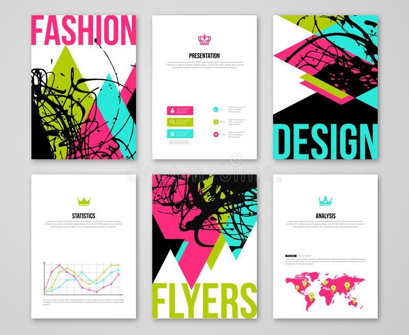 Set of fashionable business card templates stock vector download set of fashionable business card templates stock vector illustration of fashion invitation colourmoves