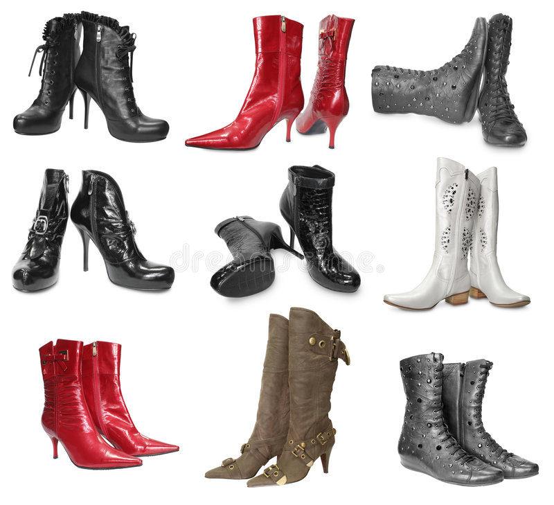 Download Set of female boots stock photo. Image of pair, modern - 8314024