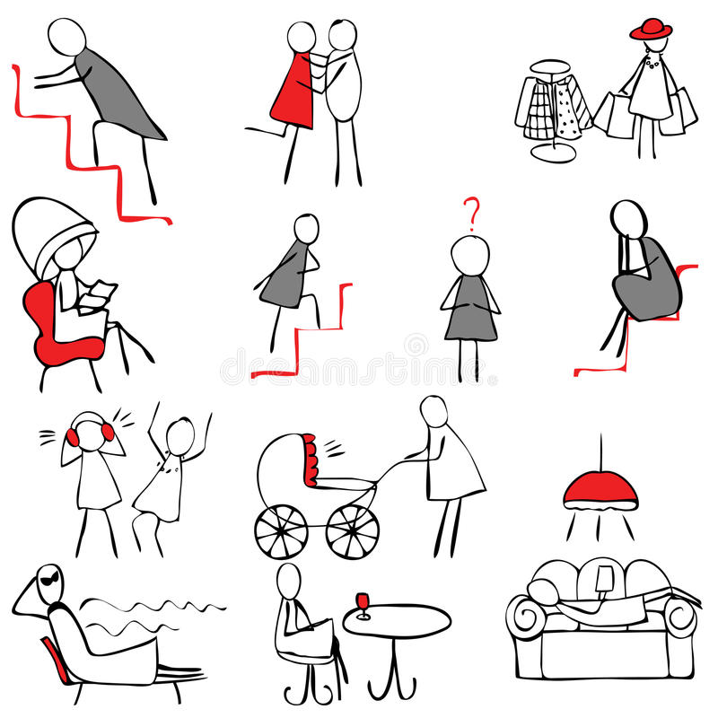 Download Set of female symbols stock vector. Image of lifestyle - 22142312