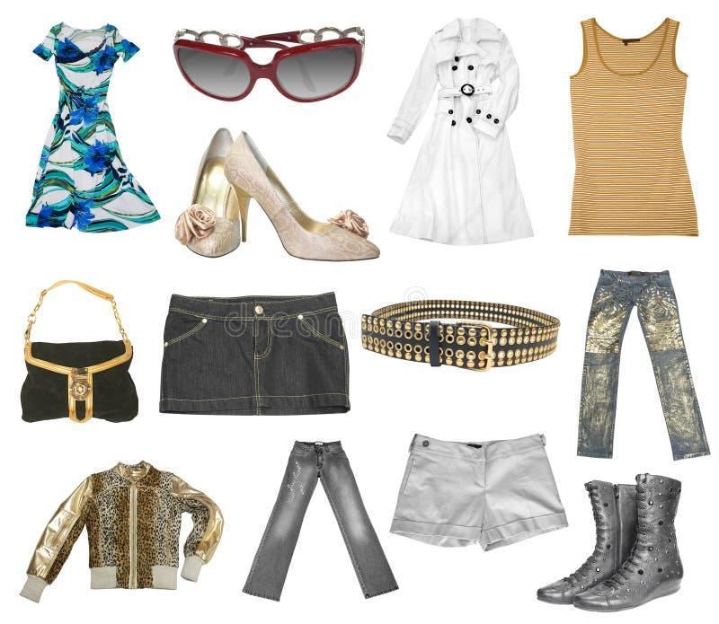 Set of females dress stock photos