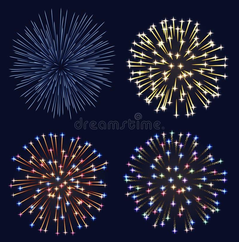 Set Feuerwerke vektor abbildung