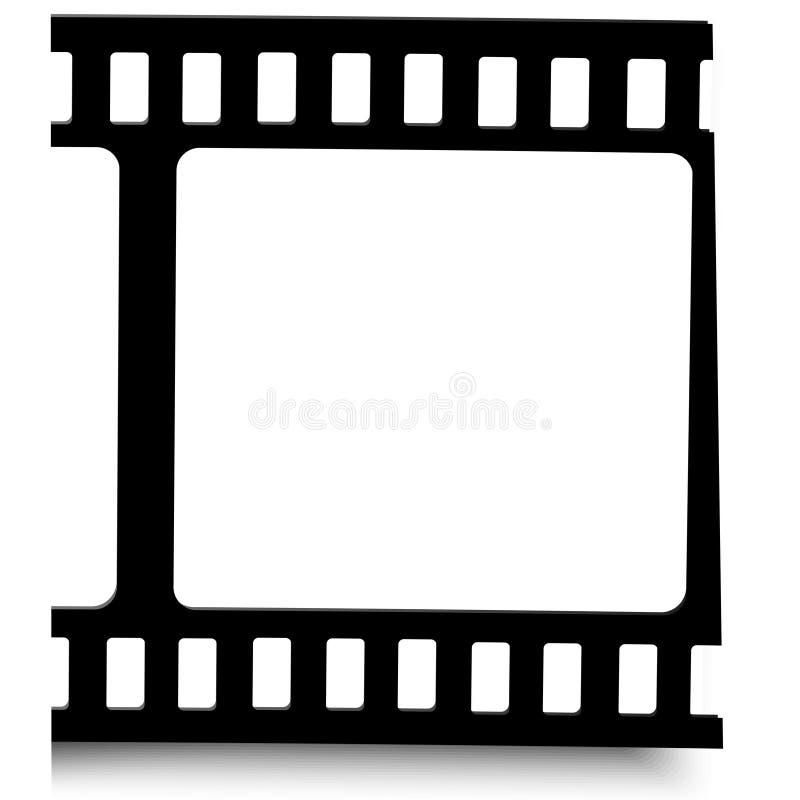 Film, movie, photo, filmstrip set of film frame, illustration royalty free illustration