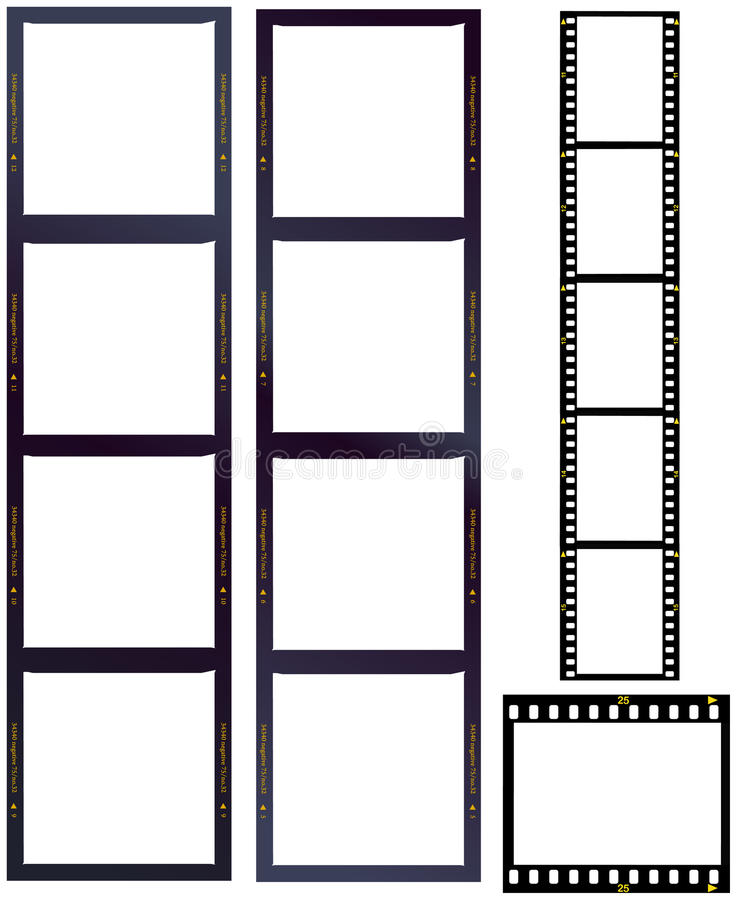 Download Set of film strips stock vector. Image of picture, film - 20418884