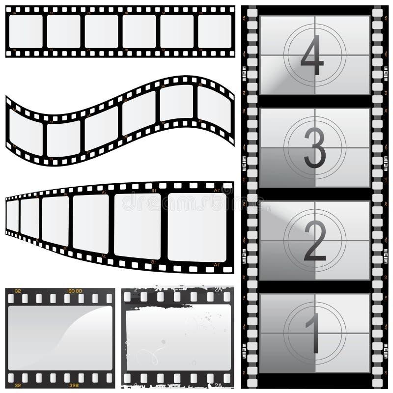 Set of film vector. 1 royalty free illustration