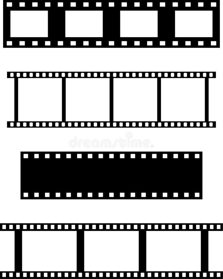 Set filmstrips lizenzfreie abbildung