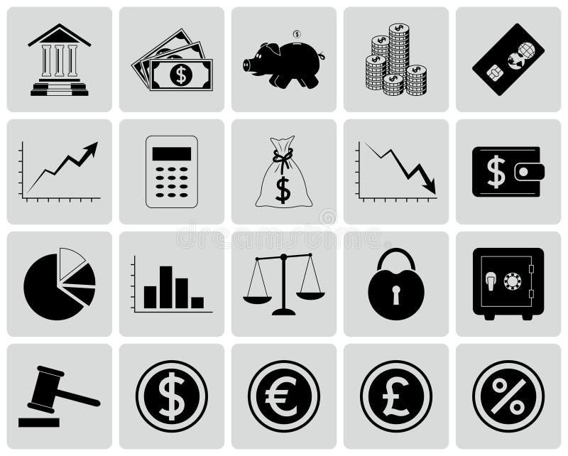 Set Finansowe ikony ilustracja wektor