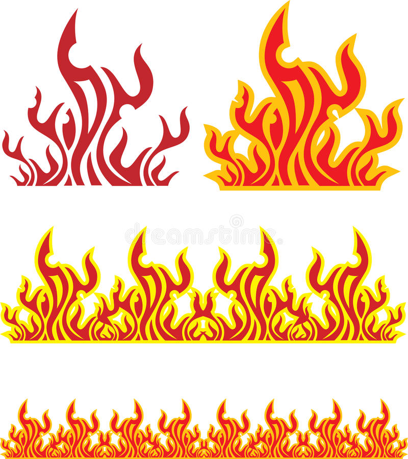 Set of fire stock illustration