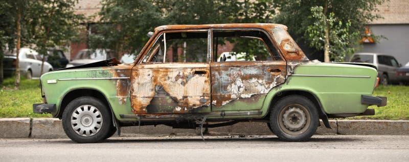 Set on fire car